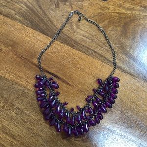 Purple Tiered Necklace